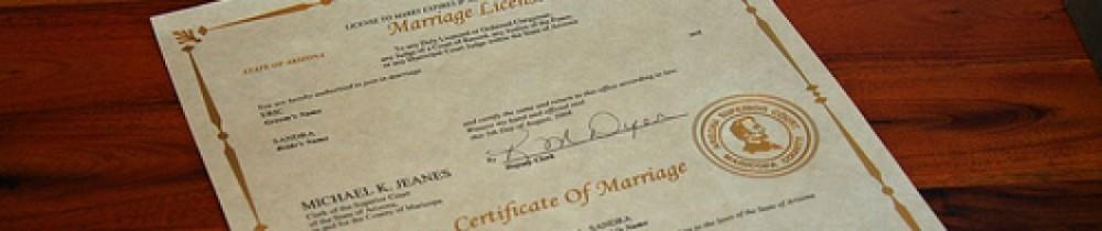 Arizona Marriage License